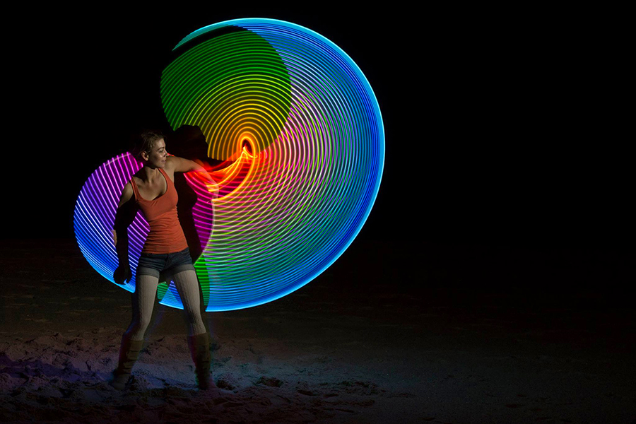 Brennan Events Fire Performer_Indoor LED Smart Hoop 3